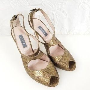 SJP Sarah Jessica Parker Petra Metallic Heels